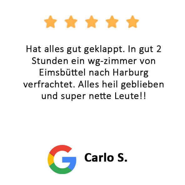 Carlo S. Bewertung Transfair Umzug