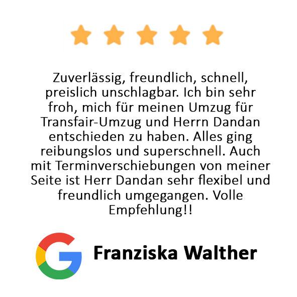 Franziska Walther Bewertung Transfair Umzug
