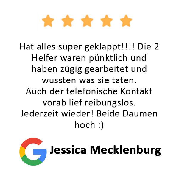 Jessica Mecklenburg Bewertung Firmenumzug Hamburg