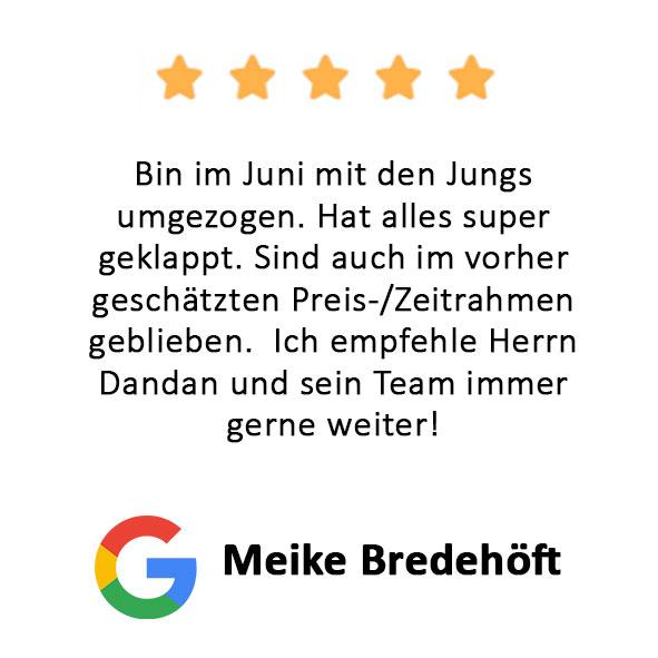 Meike Bredehöft Bewertung Firmenumzug Hamburg